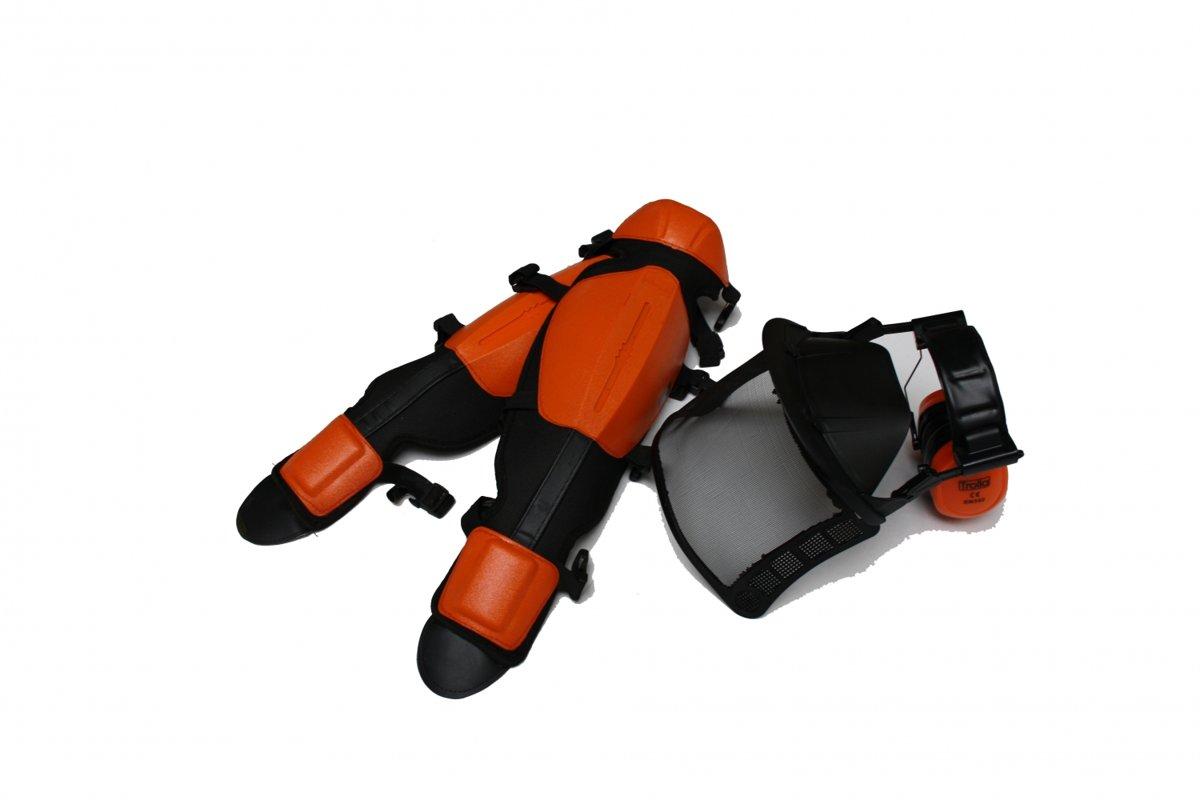 Drošības komplekts (aizsargmaska un aizsargi kājām)