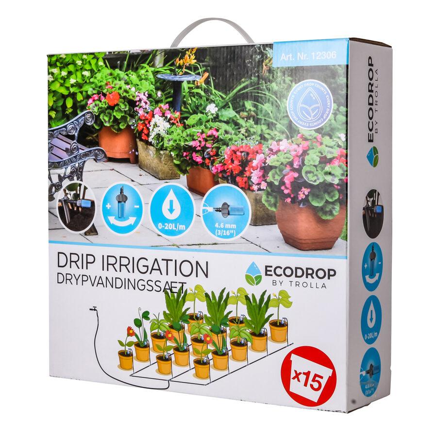 Pilienveida dārza laistīšanas sistēma 2-15 ECODROP