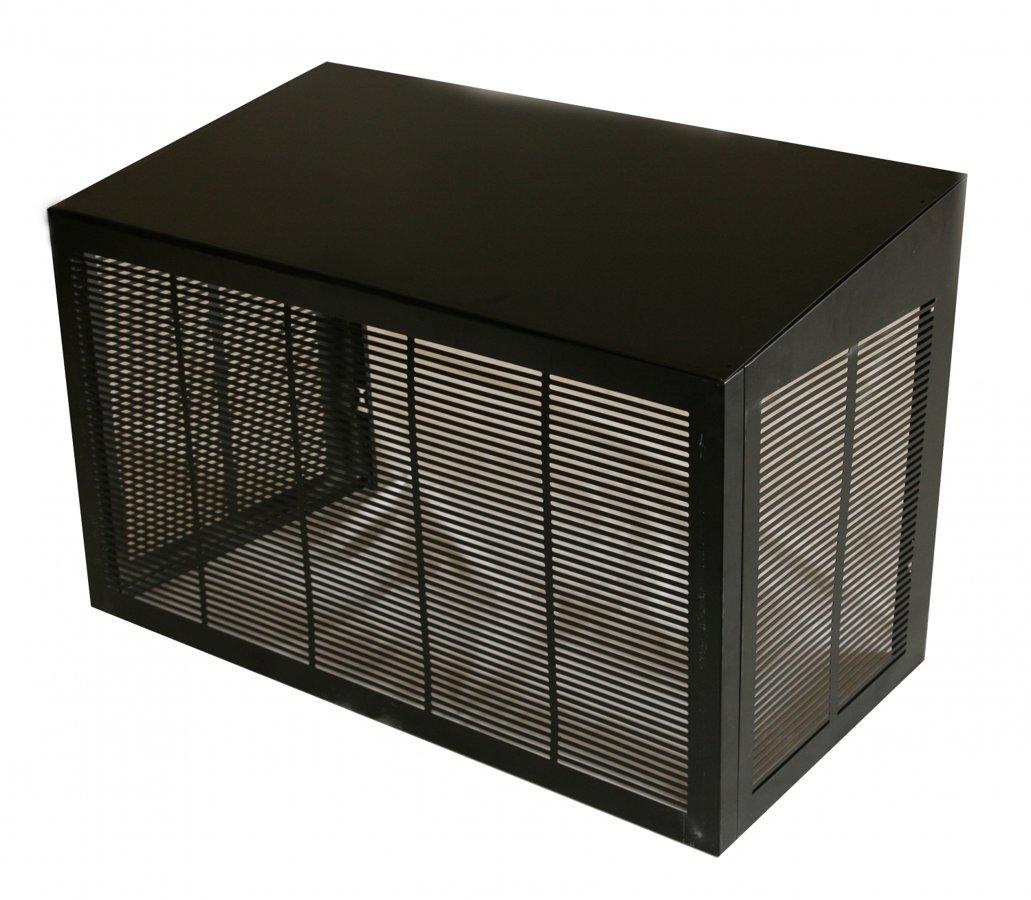 MAGGIE siltumsūkņa nožogojums melns 1100x555x700/600 mm