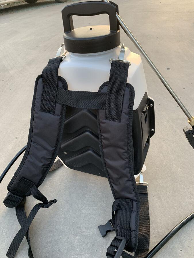 16 l elektriskais muguras smidzinātājs/dezinfekcijas iekārta ar litija jonu akumulatoru LUX