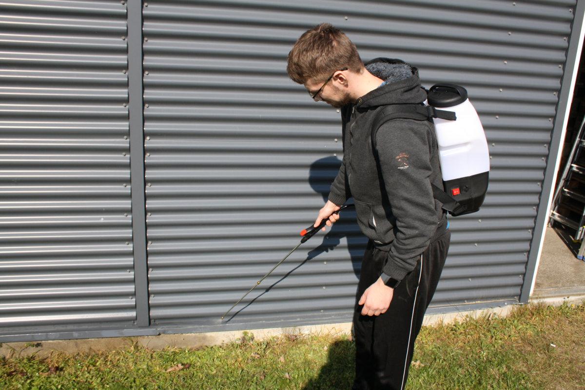 8 L elektriskais muguras smidzinātājs ar litija jonu akumulatoru