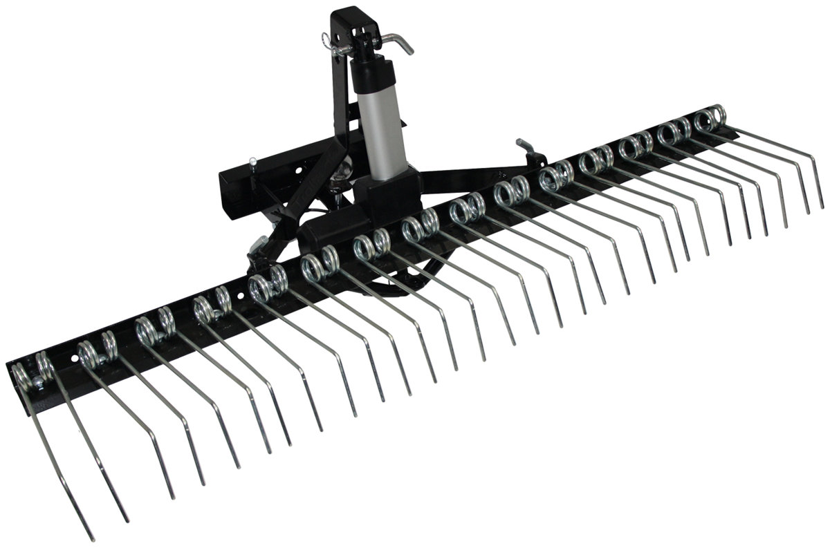 Yard rake and actuator
