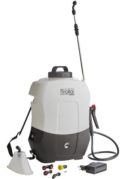 16 l elektriskais muguras smidzinātājs miglotājs ar litija jonu akumulatoru