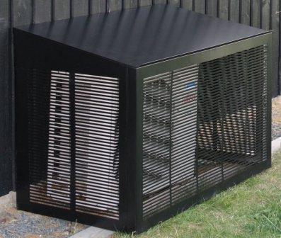 MAGGIE siltumsūkņu nožogojums melns 1100x555x700/600 mm