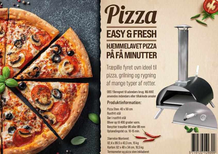 Pizza Easy & Fresh granulu picas krāsns