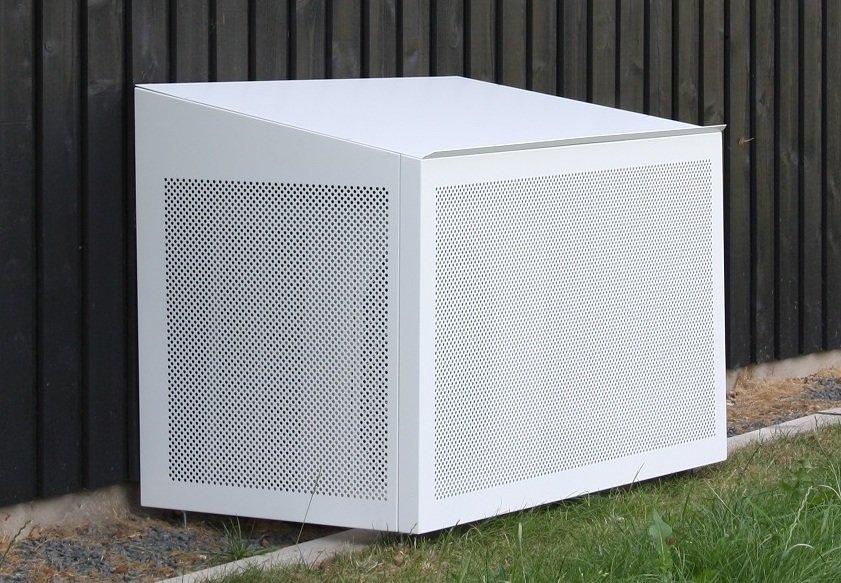 MAGGIE siltumsūkņu nožogojums balts 1100x555x700/600 mm