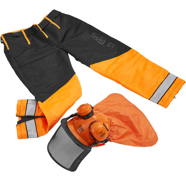 Safety set (Chaps / helmet)