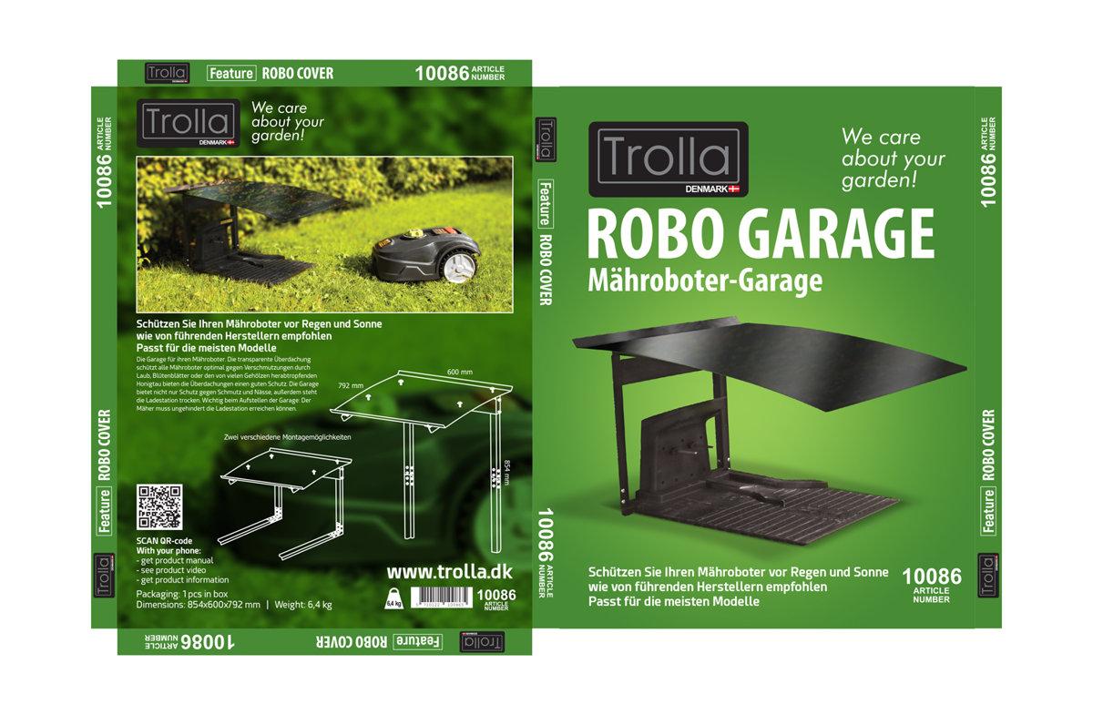 """Trolla robotizēto zāles pļāvēju garāža """"Vācijas modelis"""""""